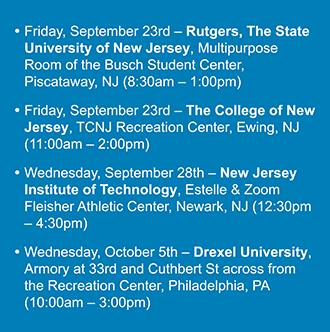 T&M's Fall Career Fair Schedule